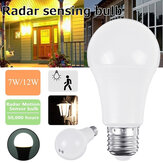 7W 12W E27 Radar Motion Sensor Induction LED Light Bulb Globe Lamp for Home Indoor Decor AC220V