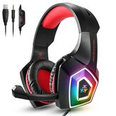 Hunterspider V1 Gaming Headset Stereo Bass Game Headphone with Mic Noise Canceling LED Light for PC for PS4 Laptop