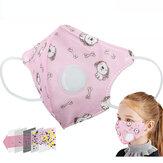الاطفال المضادة PM2.5 الغبار تنفس قناع الوجه القابل للتصرف قناع واقية لطيف مطبوعة غير المنسوجة قناع