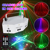 Disco Strobes Projector Light DMX 9 Eyes Laser Projection Lamp Voice Control Lighting with Remote for DJ KTV Club Stage Bar Party
