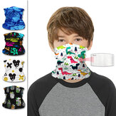 Kids Neck Gaiter Scarf Face Mask Windproof UV Protection Breathable Bandana Head Scarf for Cycling Hiking