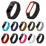 Dual Colorful TPU Watch Band Watch Strap Replacement for Xiaomi Miband 4 Non-original