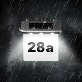 Solar Address Number Signage LED Solar House Number Light with Light Control Induction Home Lighting IP65 Waterproof