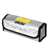 155 * 80 * 90 mm URUAV Batterie Explosionsgeschützte Tasche Lipo Storage Tragbare feuerfeste Sicherheitstasche