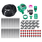 Micro Drip Irrigation System Water Timing Drip Irrigation DIY Kit for Flower Beds Vegetable Gardens