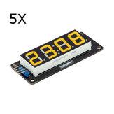 5Pcs 0.56 Inch Yellow LED Display Tube 4-Digit 7-segments Module