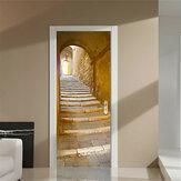 200X77 CM 3D Escada Criativa Passage PVC Autoadesivo Porta Adesivo de Parede Decoração Adesivo