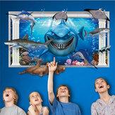 Miico3DCriativoPVCAdesivosde Parede Home Decor Mural Arte Removível Submarino World Wall Decalques