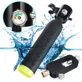 ミニスキューバダイビングシリンダー酸素タンクダイビング機器W /エアアダプター呼吸バルブ継手セット