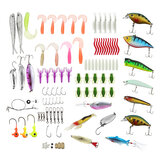 ZANLURE 100 Pcs Fishing Lures Sea Fishing Baits Perch Salmon Pike Trout Spinners Tackle Hook Fishing Lure Set