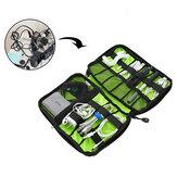 Honana HN-CB2 Su Geçirmez Kablo Saklama Çanta Elektronik Aksesuarlar Düzenleyici Seyahat Taşıma Kılıf