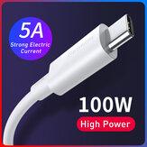 [2 stuks] Baseus 1,5 m / 4,92 ft 100 W 5A PD USB-C naar USB-C-kabel PD 3.0 QC 3.0 FCP Snel opladen Data-synchronisatiekabel Snoer voor Samsung Galaxy S20 voor iPad Pro 2020 MacBook Air 2020 voor Nintendo Switch Huawei