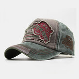 Unisex Cotton Embroidery Tiger Pattern Cool Casual Couple Hat Baseball Hat