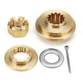 Propeller-Hardware-Kits Anlaufscheiben-Distanzscheiben-Muttern-Splint für Tohatsu 35-55 HP