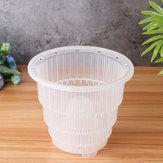 5/6/7 pouce en plastique PP décorations pour la maison de pot de maille de pot de fleur d'orchidée de pot de fleur clair