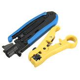 2 szt. Kabel koncentryczny Coaxial Crimper & Stripper Multi-Function Ręczne narzędzia