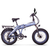 [EU Direct]RICH BIT TOP-016 9.6AH 48V 500W 20in Folding Moped Electric Bike 40km/h Speed 35KM Mileage Outdoor Snow Cycling Bicycle