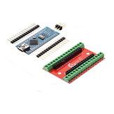 Плата расширения NANO IO Shield + ATmega328P Контроллер Nano V3 Geekcreit для Arduino - продукты, которые работают с официальными платами Arduino