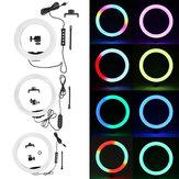 Bakeey 10 hüvelykes RGB LED szelfi gyűrűs fénytompító, tompítható stúdió gyűrűs lámpa a szépségszóráshoz