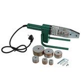 220 فولت 4 فتحات آلة لحام الأنابيب الكهربائية التدفئة أداة رئيس مجموعة ل PPR PB PE البلاستيك