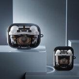 Estrutura de Perspectiva Bakeey Creative Mecânico Padrão TPU Armazenamento de Fone de Ouvido à Prova de Poeira à Prova de Choque Caso para Apple Airpods 1/2/3 Airpods Pro