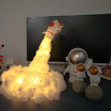 3D Space Rocket LED Night Light Wall Kids Baby hálószoba asztali íróasztal