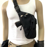 Mężczyźni Kobiety Canvas Crossbody Shoulder Chest Backpack Anti Theft Gun Tactical Sling Bag Gun Accessories Lewo prawo