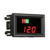 12-60V ACID Red Lead Battery Capacity Voltmeter Indicator Charge Level Lead-acid LED Tester