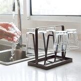 Cucina stendino caffè Organizzatore Porta tazza 6 tazze Bottiglia in vetro per casa