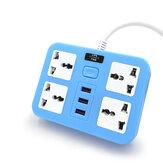 電源ソケット3コンセント4 USBポートハブマルチポータブル電力ストリッププラグアダプター用ホームオフィス