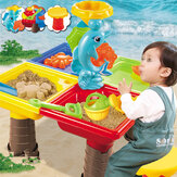 Sand And Water Table Sandpit Indoor Outdoor Beach Kids Children Play Toy Set