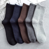 Solid Color Business Men Socks