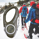 Multi-function Carabiner Altimeter Barometer Height Measuring Instrument Carabiner with Thermometer Weather Forecast Orientation Mode Instrument for Outdoor Camping Climbing Hiking