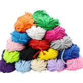 10Pcs Cotton Cord 5mm Eco-Friendly Twisted Rope High Tenacity Thread DIY Textile Craft Woven Cords for Home Decorations