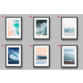 Ocean Sea Waves Nordic Poster Wall Art Canvas paintings Seascape Picture Decor US