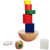 1 Bag Puzzles Wooden Geometric Balance Game Fun Toys Jigsaw Puzzle Toy for Children Educational Learning Stationery Suplies