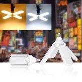 AC170-265V E27 60W調節可能な折りたたみ式ファンブレード4葉LED電球高輝度天井ワークショップランプ