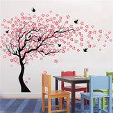 Büyük Duvar Ağacı Bebek Kreş Çiçek Duvar Sticker Kiraz Çiçeği Sticker Çocuk Vinil Sanat Çıkartması