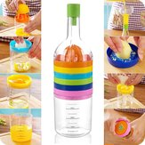 8 In 1 Multifunctional Kitchen Tool Bottle Shape Squeezer Grater Gadget Grinder