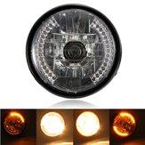 7-calowe H4 35W halogenowe reflektory z kierunkowskazem LED do samochodu motocyklowego