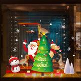 Miico XL893 Adesivo natalizio Adesivo decorativo per la casa Adesivo per finestre e pareti Adesivi decorativi per negozi