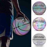CROSSWAY Aydınlık Basketbol PU Deri Aşınmaya dayanıklı Parlayan No. 7 Basketbol Takımı Spor Ekipmanları