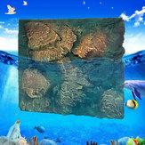 60x50cm 3D PU Rock Stone Aquarium Background Reptile Fish Tank Backdrop US
