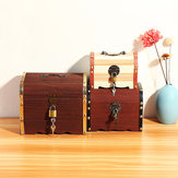 3 Types Vintage Wooden Lock Jewelry Necklace Bracelet Gift Storage Box Case