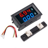 3pcs 0.56 Inch Blue Red Dual LED Display Mini Digital Voltmeter Ammeter DC 100V 50A Panel Amp Volt Voltage Current Meter Tester