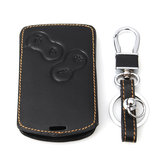 Leather car key case cover for Renault