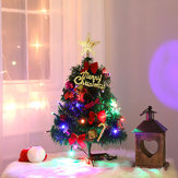 Tabletop Artificial Small Christmas Tree Artificial Lit LED Indoor Decorations