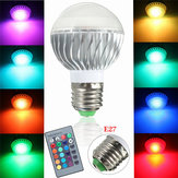 Kingso Dimmable E27 3W RGB LED Light Bulb 16 Colors Changing Lamp + IR Remote Control AC85V~265V