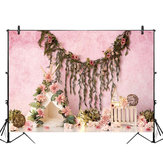 5x3FT 7x5FT 9x6FT Flower Decor Pink Wall Photography Backdrop Background Studio Prop