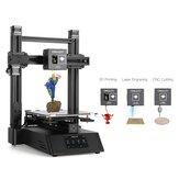 Creality 3D® CP-01 Imprimante 3D DIY 3-en-1 Kit de machine modulaire Support de gravure laser / découpe CNC Taille d'impression 200 * 200 * 200 avec écran de 4,3 pouces / Reprise de l'alimentation / Plaque de verre amovible / Mise à niveau int